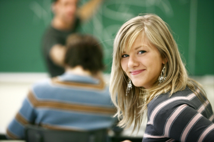 Smiling Young Student