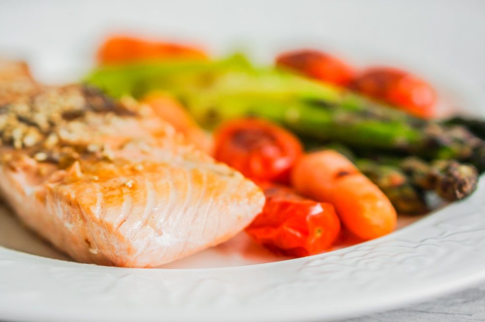 cooked salmon meal vitamin d healthy eating