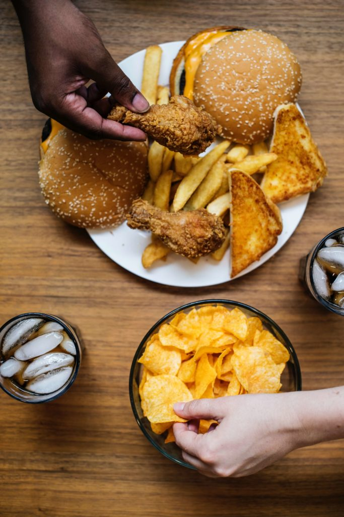Chicken, French Fries, Potato Chips - Fast Food is Not Good for your Digestive System